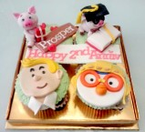Piggy, Tintin and Pororo... karakter imut... :)